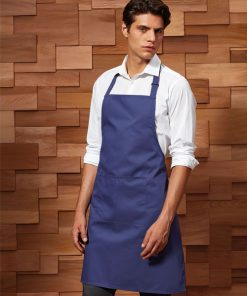 Waiter wearing apron