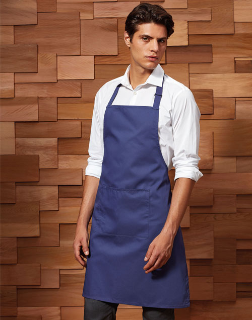 Waiter wearing apron