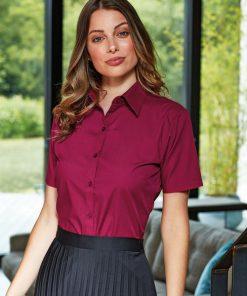 Burgendy Short Sleeve Shirt