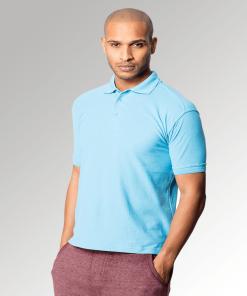 Sky Blue Men's Premium Polo Shirt