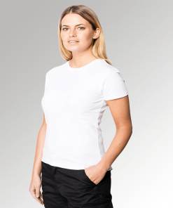 White Ladies Fitted T-Shirt