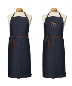 Embroidered Denim Apron