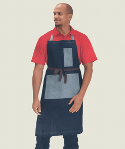 Denim Bib Apron with Pocket