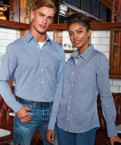 Mens Long Sleeve Gingham Shirt