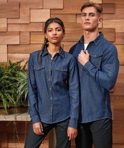 Jean Stitch Denim Shirt