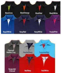 Colours of Men's Contrast Polo
