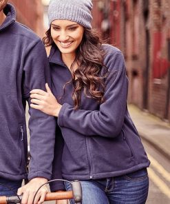 Girl laughing wearing full zip fleece