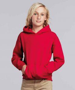 boy wearing red hoodie