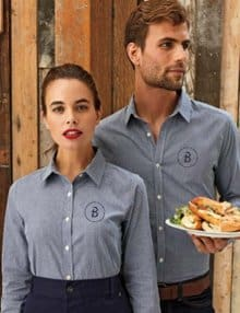 Ladies and Mens Denim Shirts with Logo