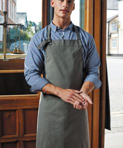 Canvas Bib Apron Grey