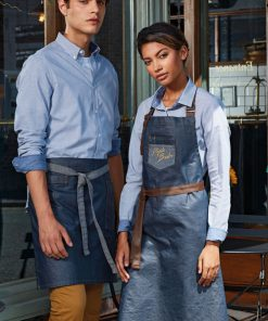 Indigo denim apron