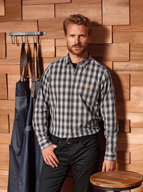 Men check bar shirts