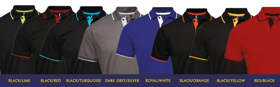 Contrast Polo Shirts
