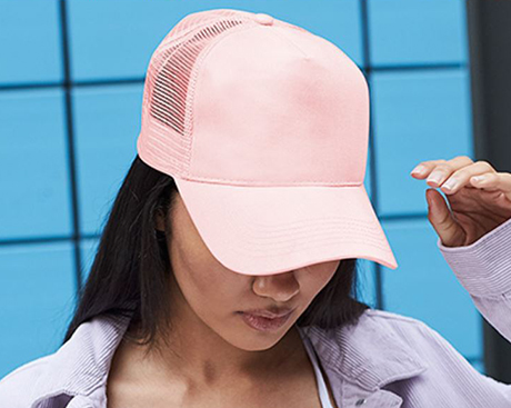 Snapback Trucker Cap Pink