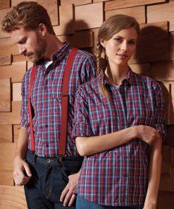 Men's Long Sleeve Check Bar Shirt