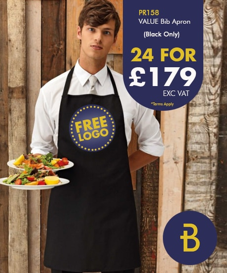 24 Value Bib Aprons with Logo Deal