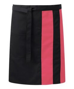 Contrast Wasit Apron With Pocket Front
