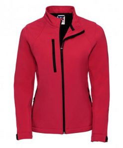 140F Ladies Softshell Jacket by Russell Front Classic Red