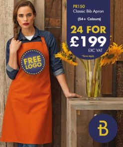 24 Bib Aprons with Logo - Deals