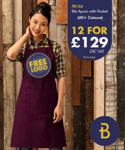 PR154 Bib Apron with Pocket - Banksford Deals