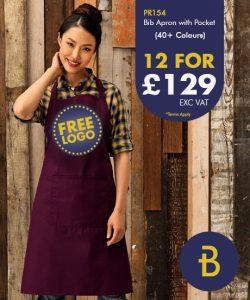 PR154 Bib Apron with Pocket - Banksford Deals