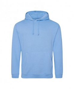Overhead College Hooded Sweatshirt Blue Front