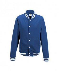 JH041 College Jacket Front Oxford Navy