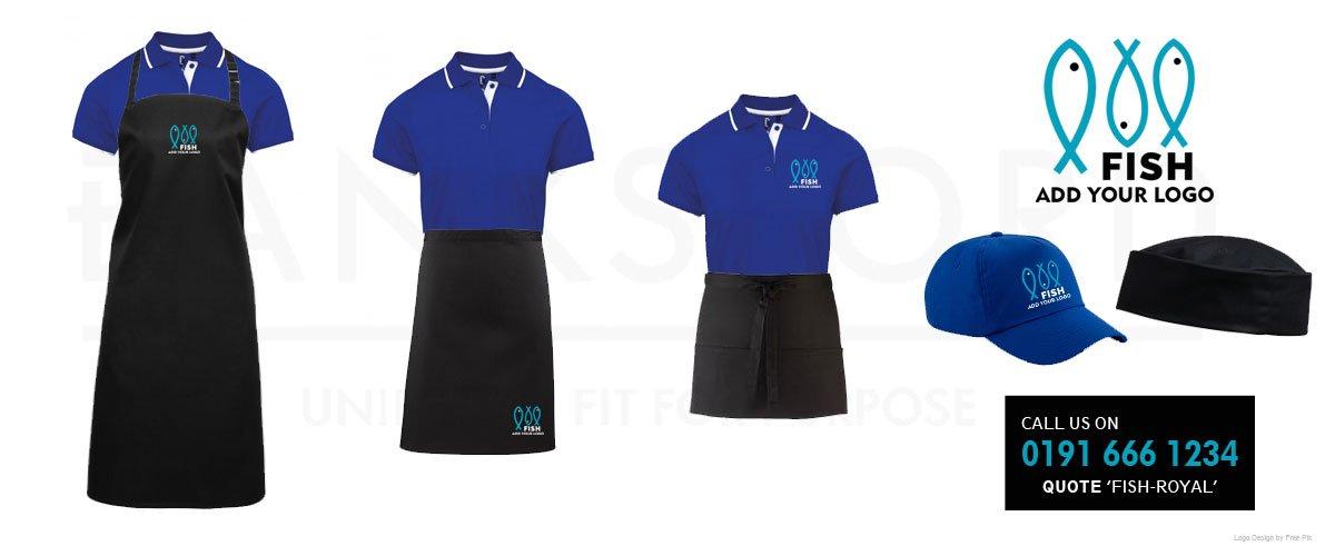 Fish Shop Blue Uniforms