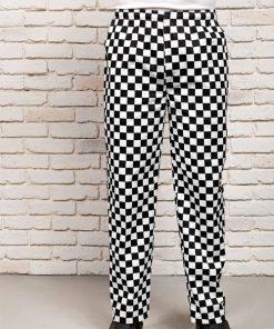 Black whitecheck Trousers