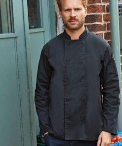 Long sleeve coolchecker chef jacket