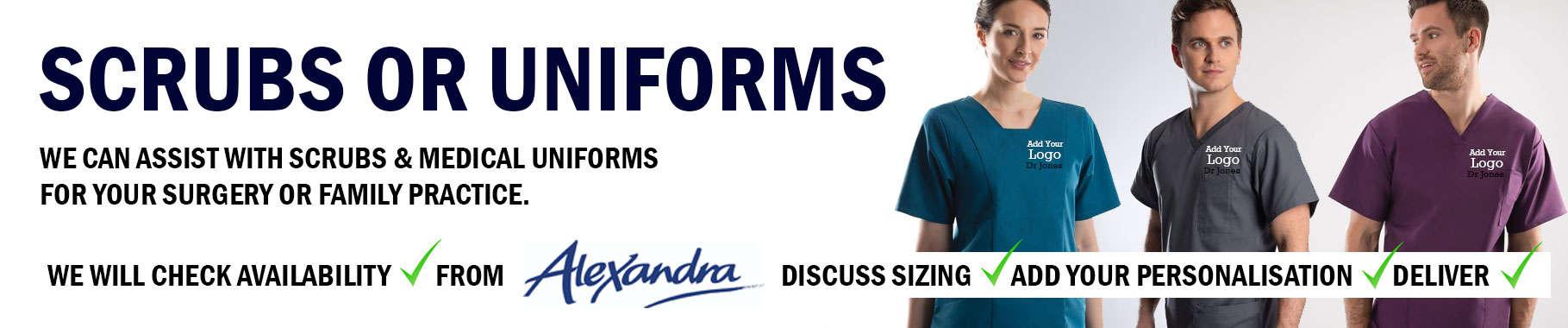 Medical Scrubs and Uniform from Alexandra
